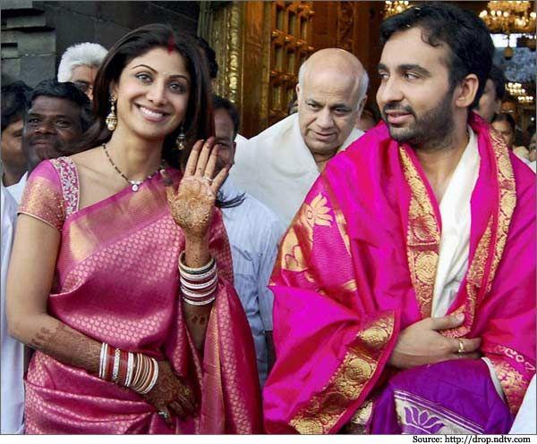 Shilpa-Shetty-Kundra-in-pink-Kanjivaram-Silk-Saree-kanjivaram sarees, bridal sarees