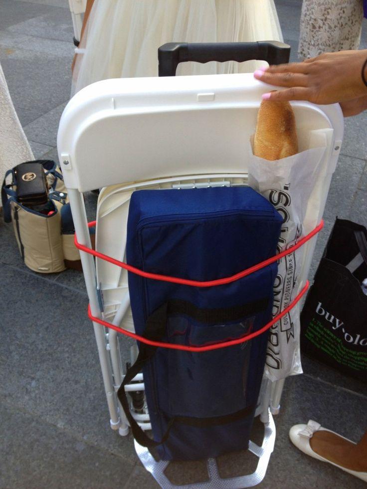 Diner en Blanc table, chair  gear transportation idea #DinerEnBlanc #DinerEnBlancCHI