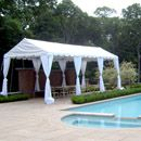 12'x30' fiesta frame tent with leg drapes
