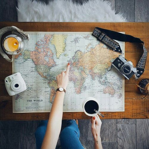 Open a map, choose where to go, drink a coffee and finally take photos!