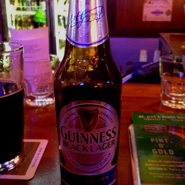 Guinness Black Lager.