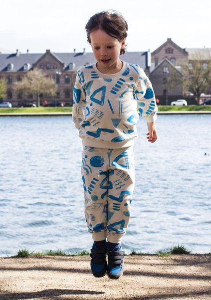 Boys Sweat Set – Incakids Webshop #kids #apparel #pattern #sweatshirt #blue #incakids #hipster #poster #type #wave #blue #boy