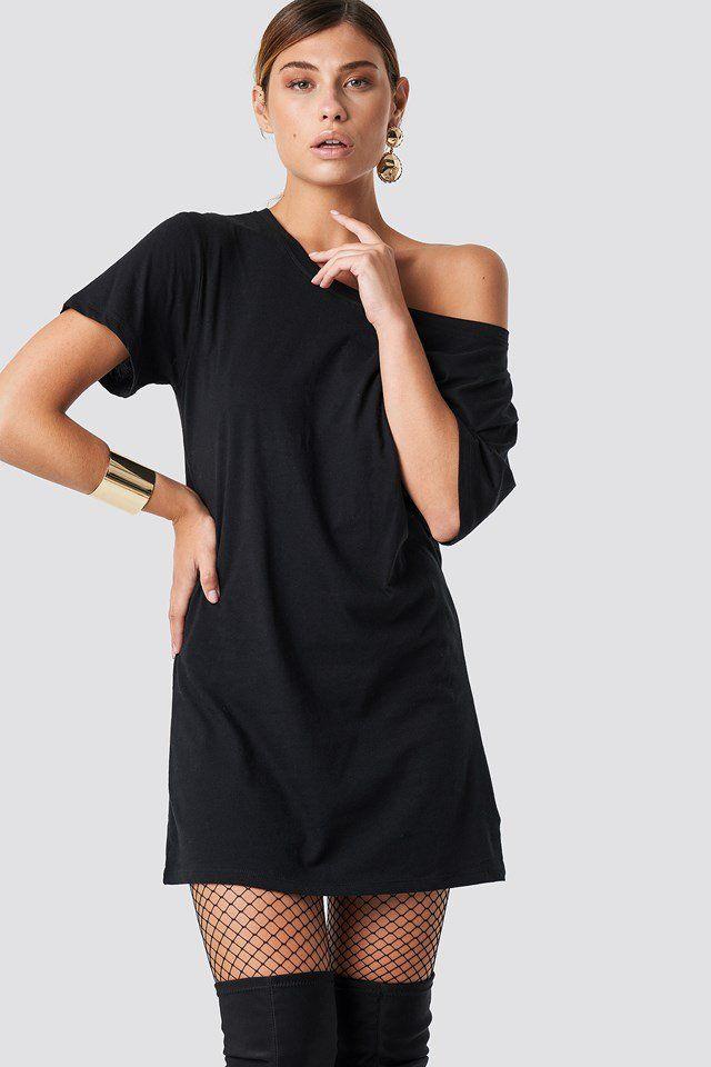 e8af239f38d One Shoulder T-shirt Dress in 2019   vacation   Shirt Dress, Dresses ...