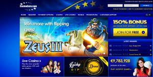 Casino Euro is hard op weg om een van meest gespeelde online casino's in Nederland te worden. Speel al je favoriete gokkasten titels zoals Super Jackpot Party, Wizard of Oz, Gonzo's Quest en natuurlijk de leukste kast aller tijden, Bier Haus. Ook kan je in het Live Casino terecht voor Blackjack, Roulette en Baccarat. De bonussen zijn ook nog eens fantastisch: wat dacht je van een welkomstbonus van 150%? Of de maandelijkse terugkerende gratis loterij waarbij je 5.000 euro netto kan winnen?