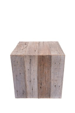 Large Barnwood Square Cube - Perfect for end tables in basement!
