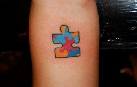 autism puzzle piece tattoo ideas