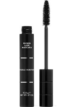 Merle Norman Wicked Lash Mascara - Review- The secret may be in the extra-large brush! A known favorite among makeup pros and industry experts, Merle Norman Wicked Lash Mascara combines a specially-made brush (about double the size of an average mascara brush), plus, a peptide and Panthenol (Vitamin E) mascara formula that coats lashes evenly and leaves them conditioned, which can help to repair them and maximize growth.