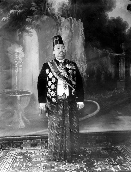 Javanese King Pakubuwono X of Surakarta Kingdom