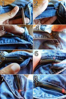 Вот как быстро починить молнию на джинсах!
