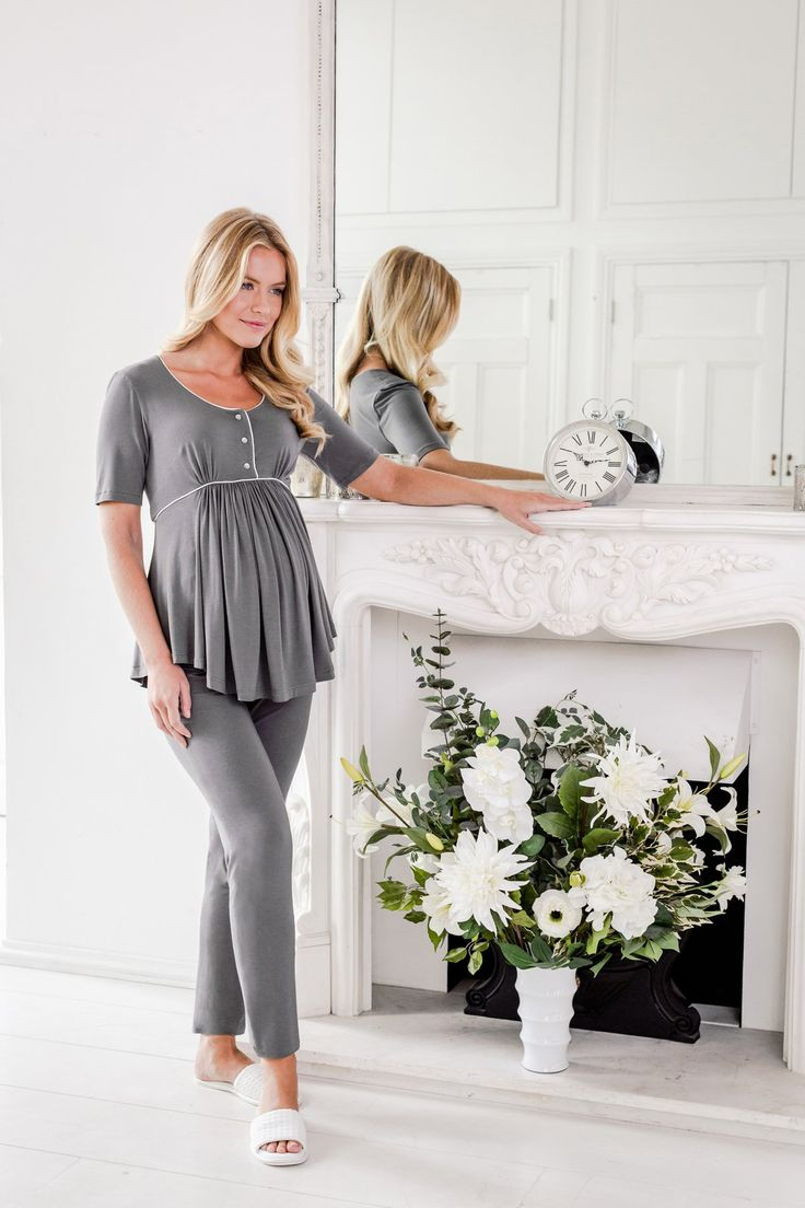Browse our range of maternity nightwear and loungewear. We have nighties, pyjamas and dressing gowns / bathrobes in luxurious fabrics and modern styles.