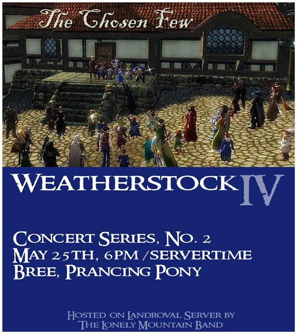 Weatherstock pre-concert poster.
