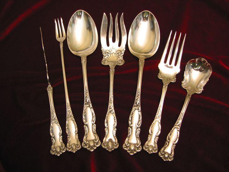 70  Oxford Silverplate Hostess Serviing Set Rogers Victorian Flatware 1901 Lot of 7 #WmRogersInternational