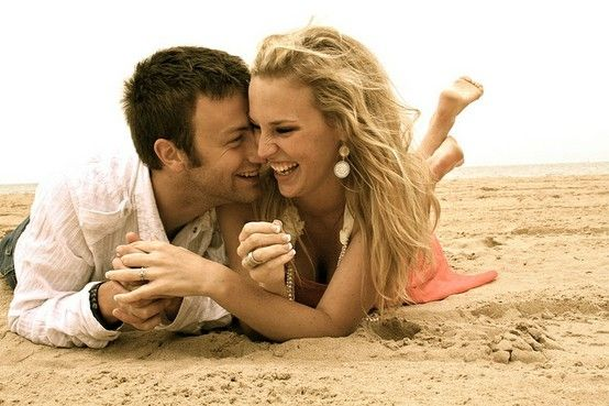 I'm thinking this would be perfect for the day after the wedding- pictures on the beach... as a married couple. :)