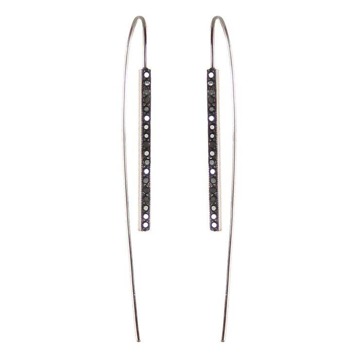 Zoe Chicco: 14k black pave wire earrings