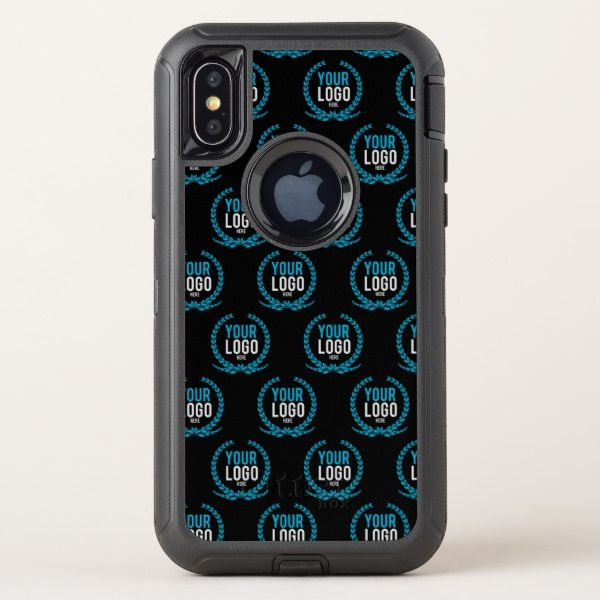 Your Custom Logo   Image All Over Patterned OtterBox Defender iPhone X Case Custom Brandable Electronics Gifts for your buniness #electronics #logo #brand