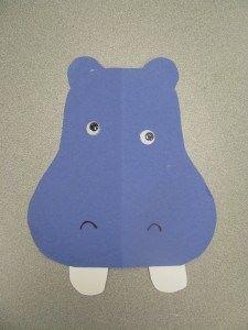 preschool hippo craft