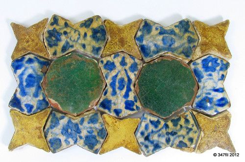 15 Glazed Tiles Ilkhanid Timurid Islamic Ceramic Art Central Asian 13 14th Cent | eBay