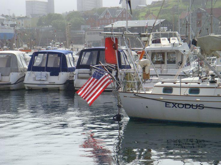Tórshavn harbour, visitors from overseas :-)