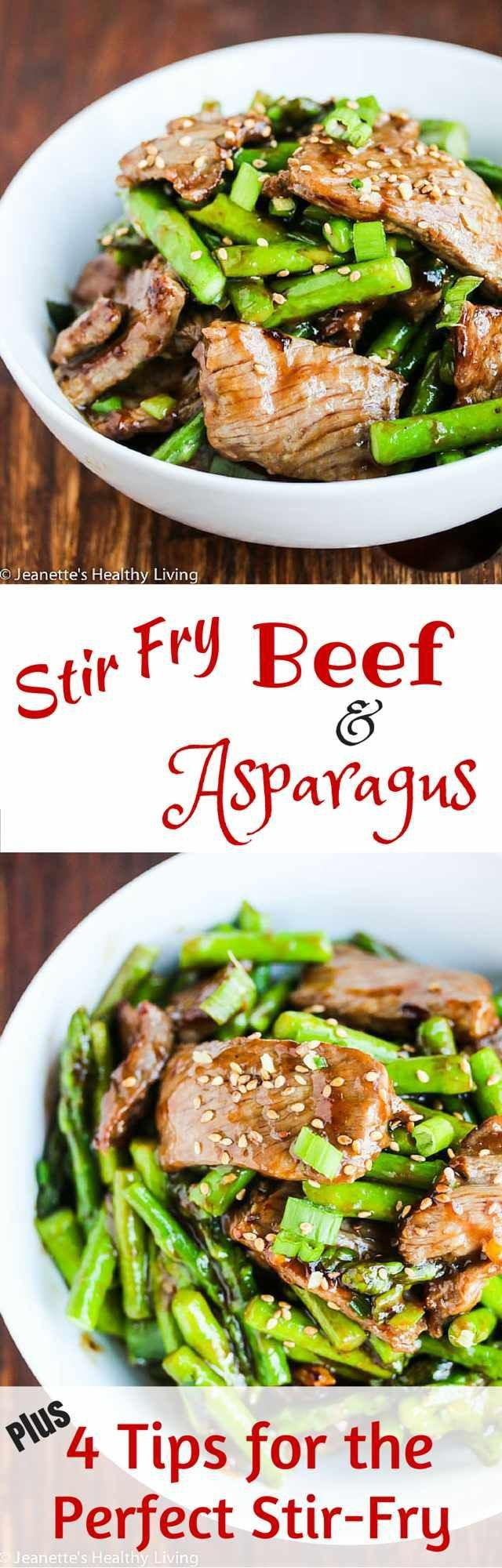 Stir Fry Beef and Asparagus in Oyster Sauce