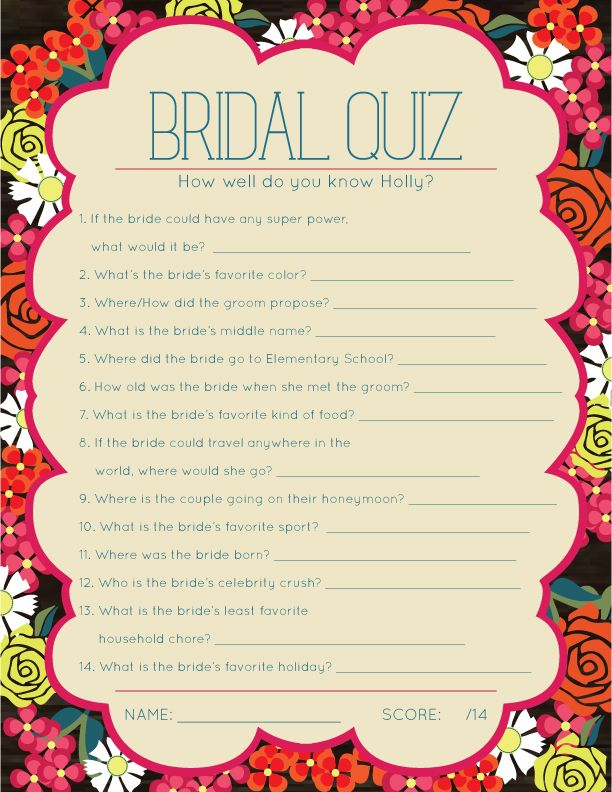 Best 25 bridal shower questions ideas on pinterest for Wedding shower games ideas