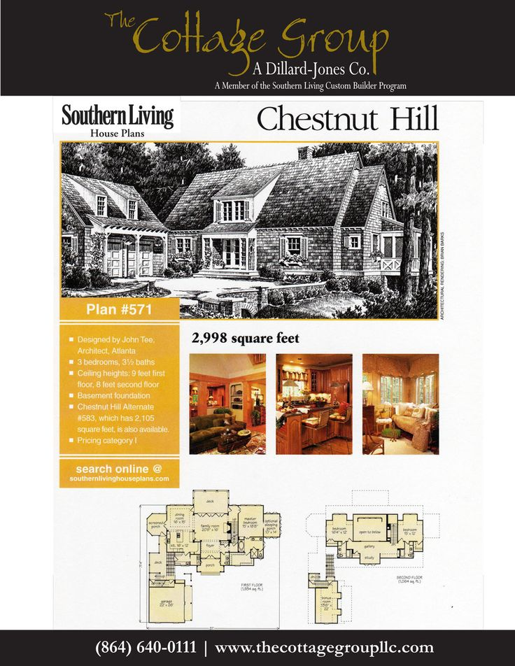 Chestnut Hill The Cottage Group Southern Living House Plans Pinterest Southern Living