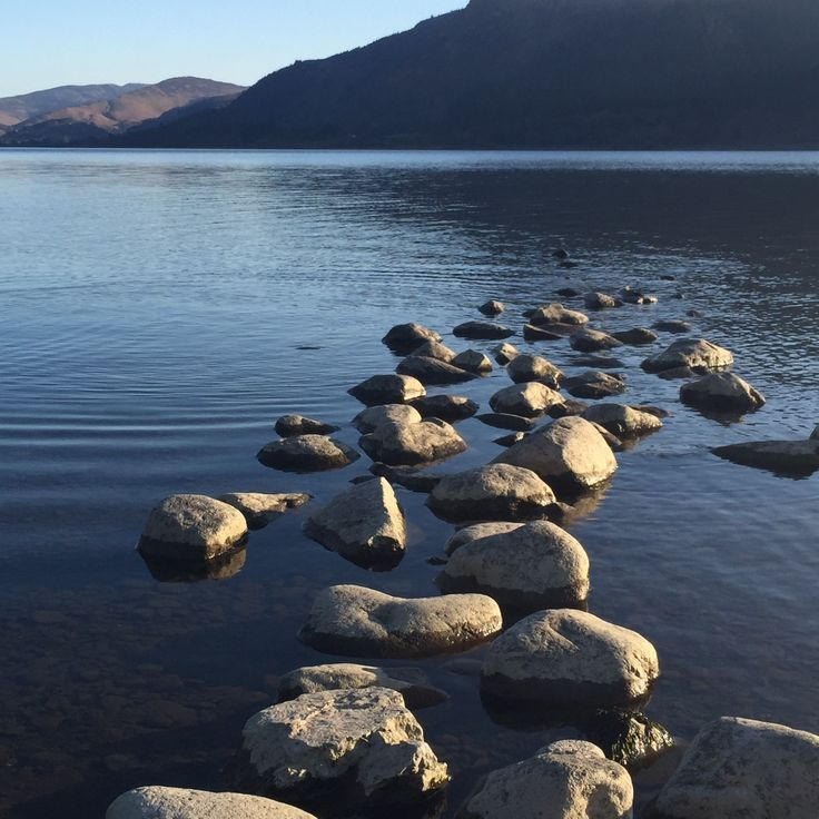 Beautiful Bassenthwaite Lake, the only lake in the Lake District. All others are mere's or waters.
