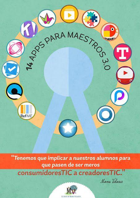 AYUDA PARA MAESTROS: 60 Apps para docentes 3.0