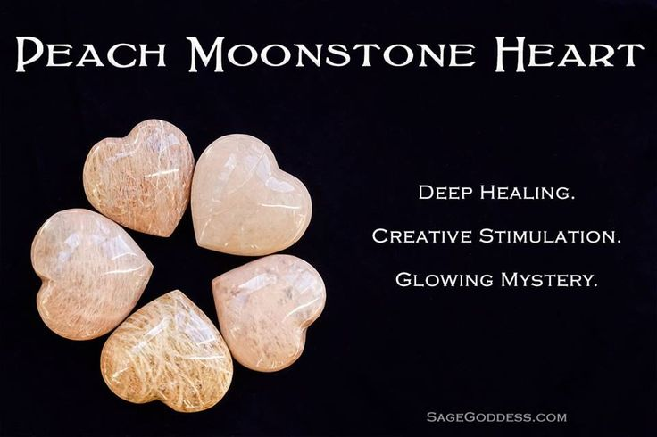 Peach Moonstone Hearts for emotional healing and Sacral Chakra stimulation in the new year.