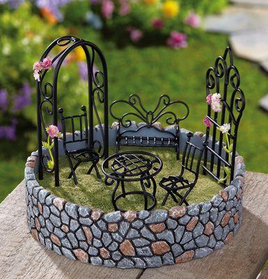 Miniature Fairy Garden Outdoor Display