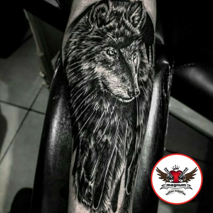 Fantastic black and grey wolf tattoo done with #magnumtattoosupplies 👊🏼👊🏼by Scott Edward Tattoo Artist  💪🏼💪🏼💪🏼💪🏼