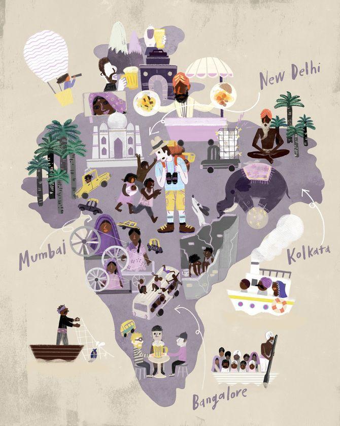 ELLE Korea - callmekim.com Map of India