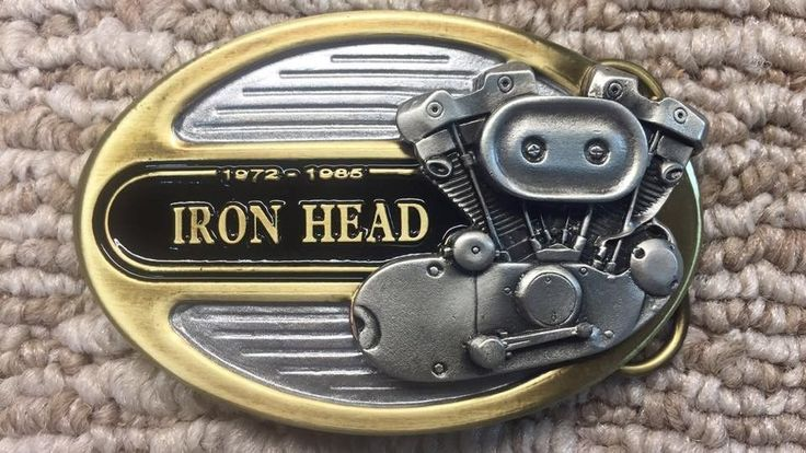 Ironhead Sportster Harley Apparel Belt Buckle Pewter 1972 To 1985 #Vtwin #BeltBuckle
