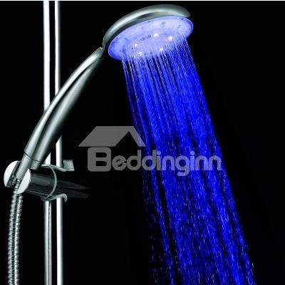 A Grade ABS Chrome Finish Color Changing LED Hanldheld  Shower head