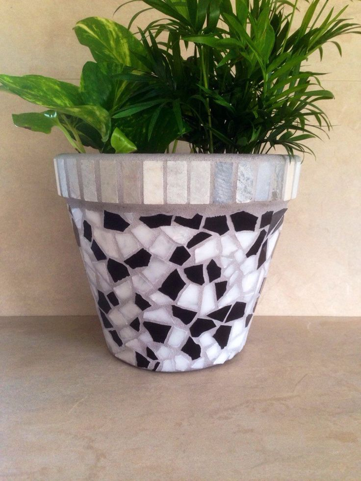 Mosaic Tile Planter, Large Flower Pot, Indoor Planter, Outdoor Mosaic  Planteru2026