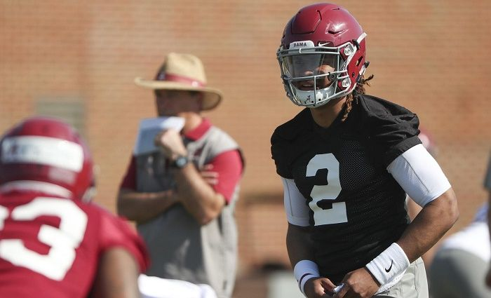 From Lane Kiffin to Steve Sarkisian to Brian Daboll in barely three months. But Jalen Hurts is trying to take Alabama's coordinator turnover in stride.