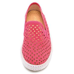 Rivieras Sultan Slip On Perforated Sneakers - Rose - Polyvore