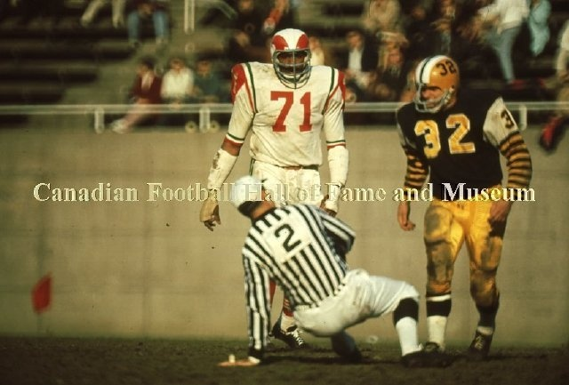 1966 game between the Hamilton Tiger-Cats and the Montreal Alouettes. Canadian Football Hall of Fame & Museum