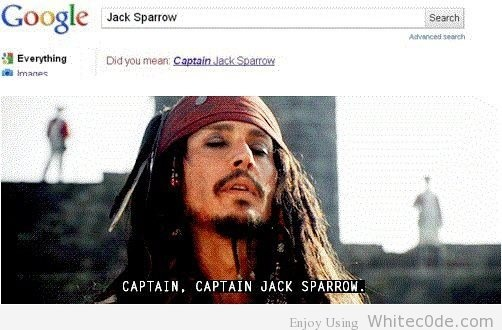 Funny Pic Of The Day: Captain, Captain Jack Sparrow :D