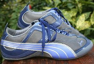 PUMA-Sport-Eco-Ortholite-Gray-Purple-Mesh-Light-Tennis-Running-Shoe-Women-7-5