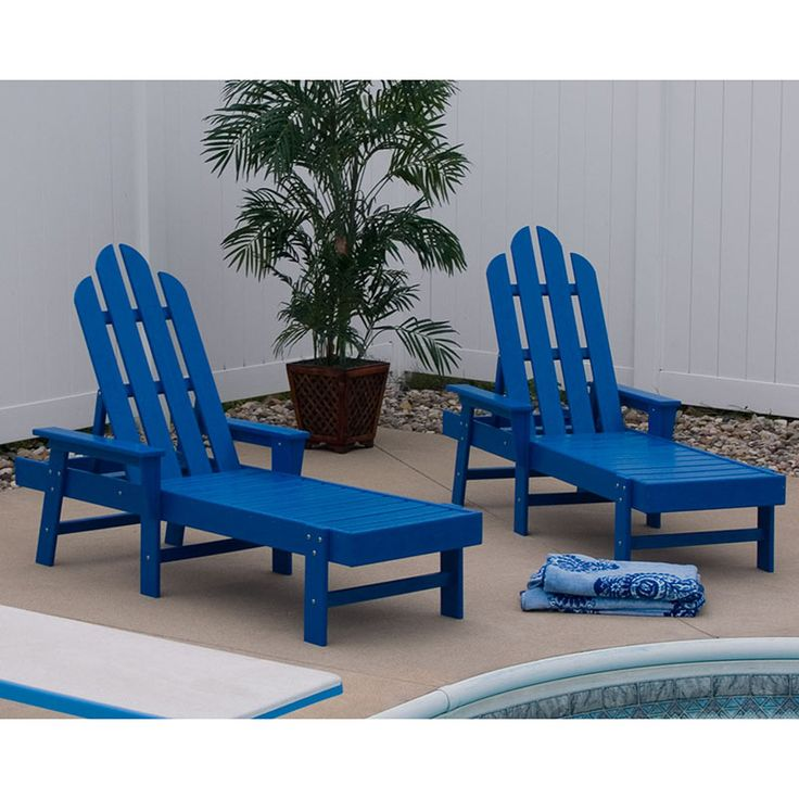 Long island adirondack chaise lounge maintenance free for Adirondack chaise