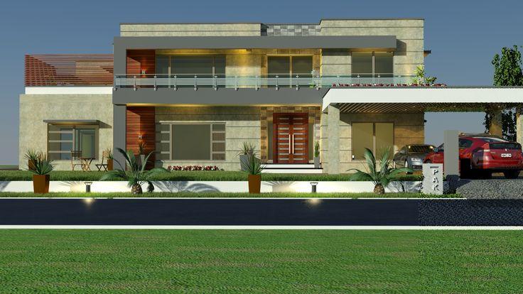Islamabad pakistan 3d front elevation pinterest for Villa interior design in pakistan
