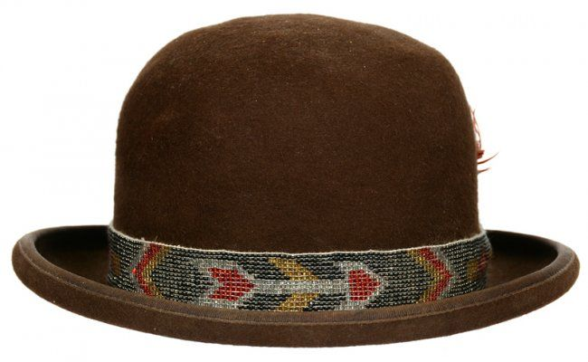 VINTAGE 1930'S CHEYENNE DERBY WITH CHEYENNE BEADED HAT : Lot 193