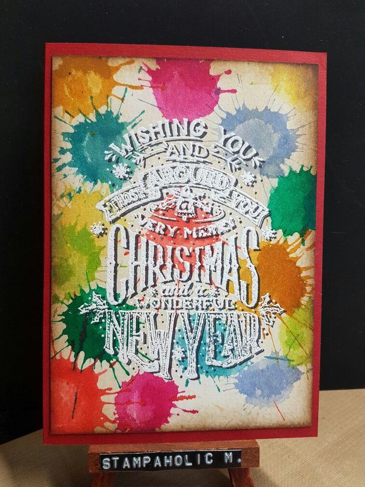 Splatter christmas card
