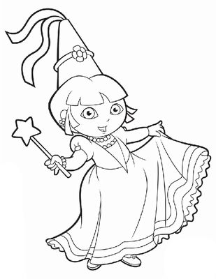 19 Best Images About Dora The Explorer Coloring Pages On