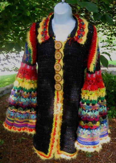Dorothy's Crocheted Sweater Coat with Weasley Sleeves por ccdzs