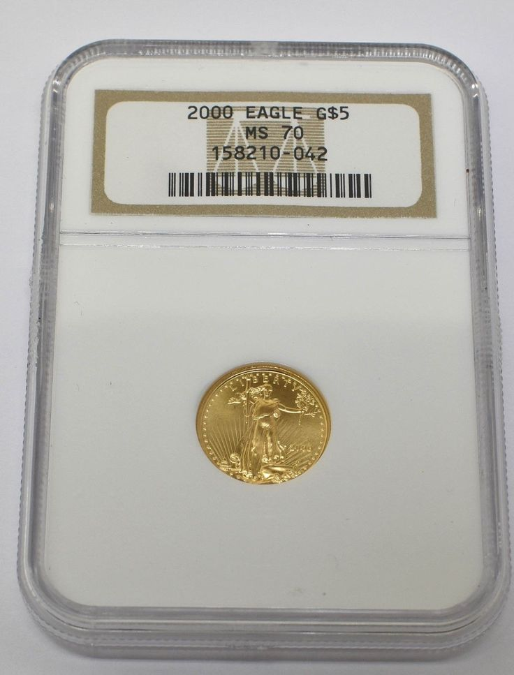 2000 UNITED STATES 5 DOLLAR GOLD EAGLE COIN MS 70
