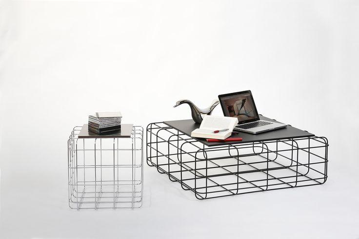 Wire by Ronda Design, design Luca Roccadadria #design #wire #coffeetable #steel #furniture