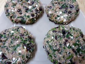 Cookin' Cowgirl: Black Bean Turkey Burger with Spinach and Feta