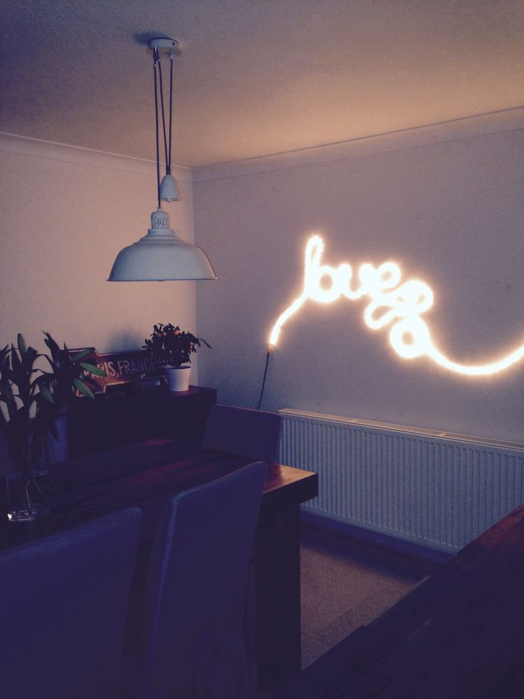 Rope light creation...they're not just for Christmas you know!!