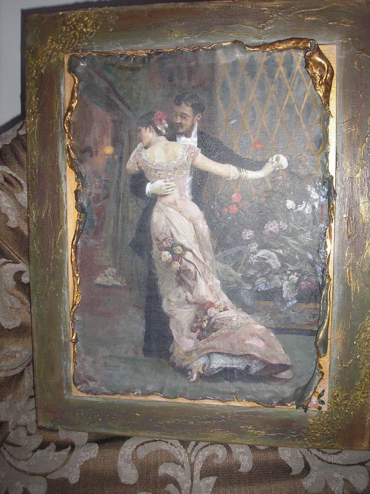 decoupage canvas Stella Декупаж кадров Ντεκουπαζ σε κανβα Στελλα